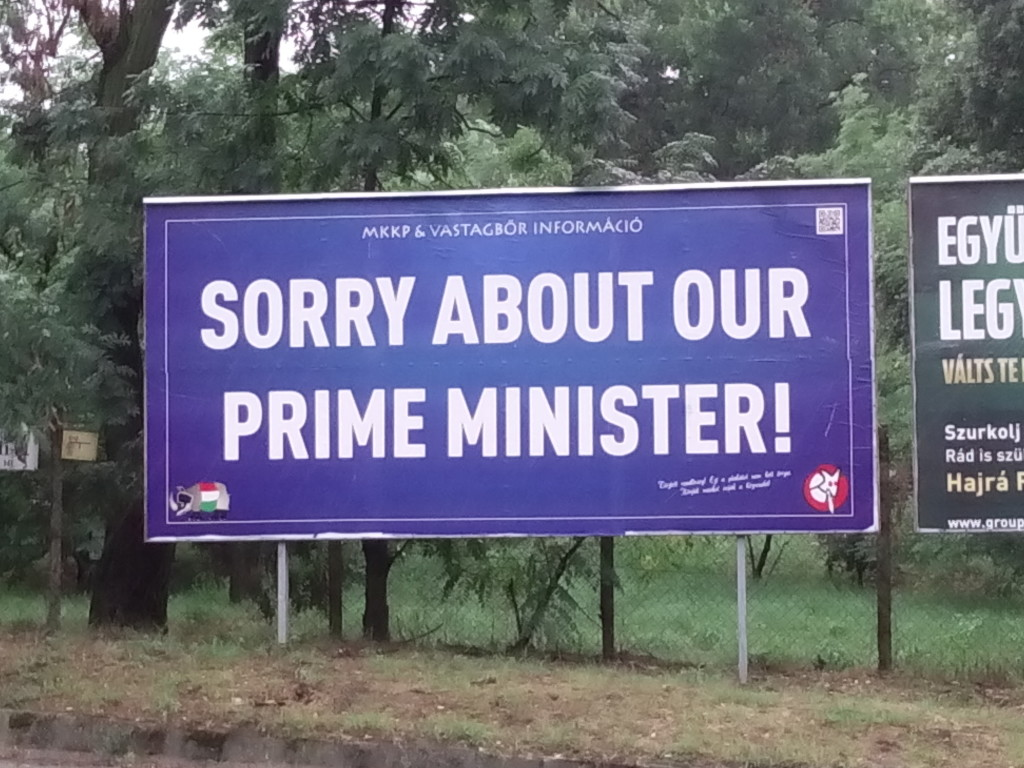 Sorry for our prime minister