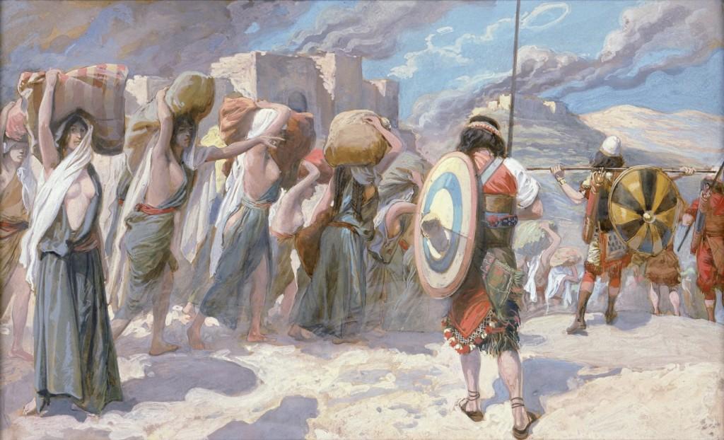 Мадіанітянки у полоні в гебреїв, 1896-1900. Акварель Джеймса Тіссо у Єврейському музеї в Нью-Йорку.