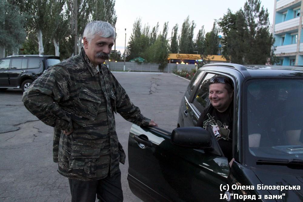 Дмитрий Корчинский и Игорь Мосийчук в Мариуполе (или поблизости), июнь 2014 года