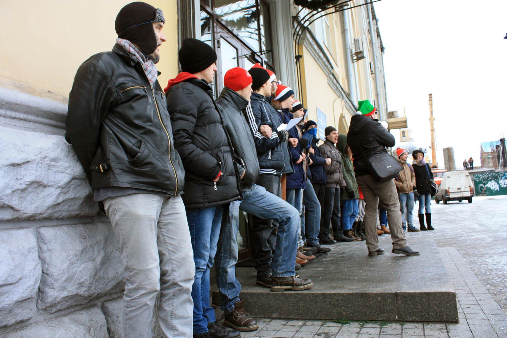 Акція тролейбусників біля Київпастрансу 29 грудня 2016