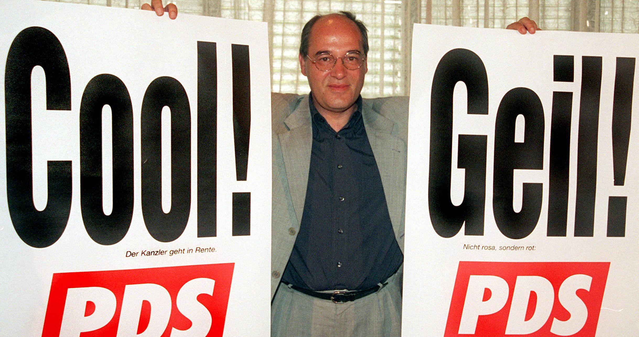 Грегор Гізі — яскравий представник нової, молодої генерації СЄПН, що привела до її перебудови і демократизації. Він став першим головою ПДС і з цього часу відігравав передові ролі в партії.