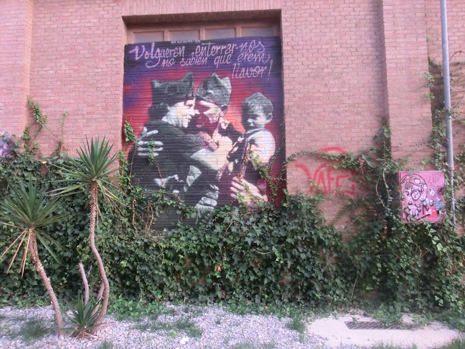 Плакат с фотографией времен испанской Революции