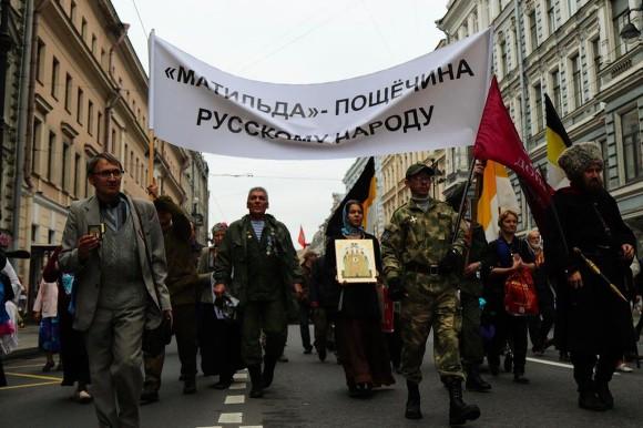 Крестный ход против показа фильма «Матильда». Фото: http://www.rosbalt.ru