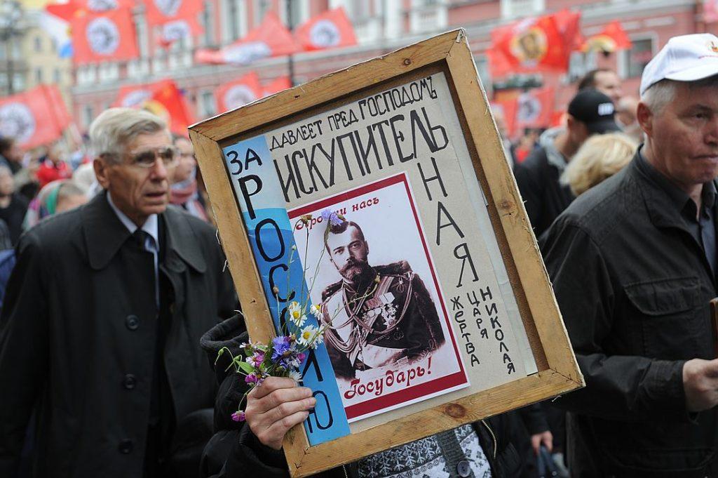 Протестующие против «Матильды» на 100-тысячном крестном ходе в честь Александра Невского. Фото: Олег Золото, https://www.spb.kp.ru
