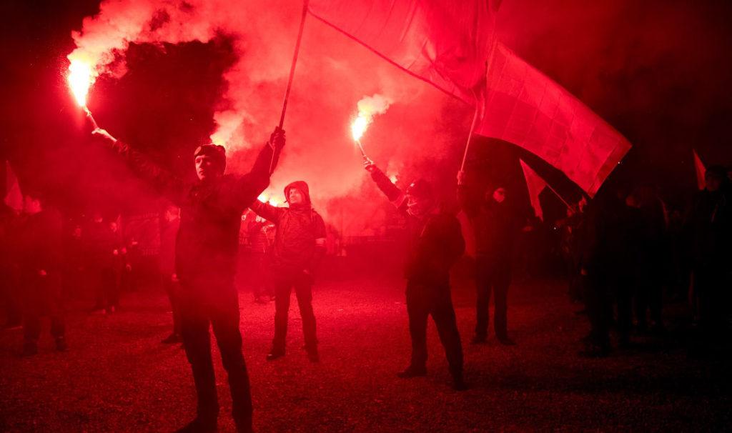 Марш Независимости в Варшаве, 2017. Фото: Томаш Рафа