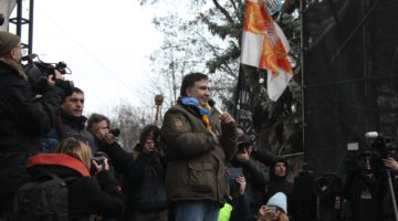 Саакашвілі після звільнення 6 грудня 2017