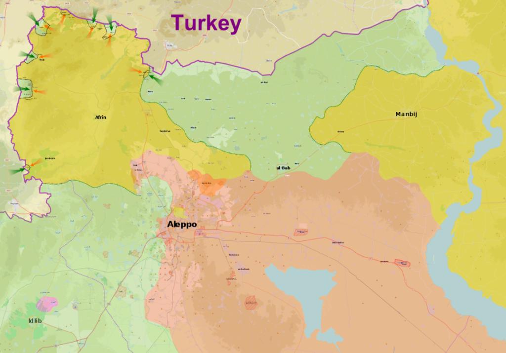 Наступление турецких и протурецких сил в рамках операции «Оливковая ветвь».