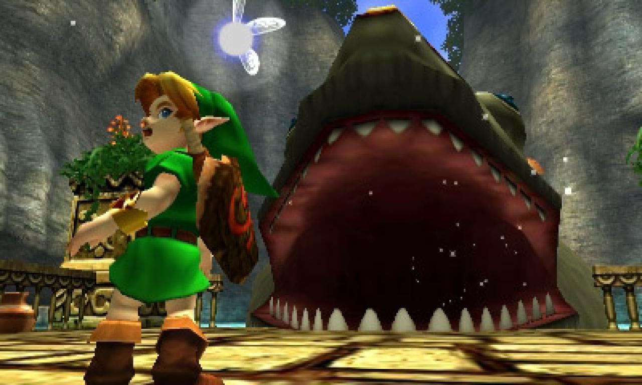 Кадр из компьютерной игры The Legend of Zelda: Ocarina of Time.