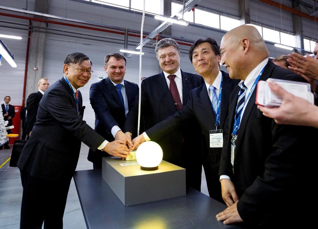 Порошенко відкриває завод Фуджикура